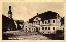 Neumark Sachsen Vogtland DDR AK 1952 Marktplatz Markt Kirche Gebäude Häuser Dorf