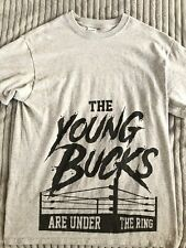 "The Young Bucks ""Are Under The Ring"" T Shirt Medium ROH AEW All Elite Wrestling"