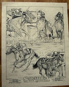 1999 Lim Ed S/N Saratoga Race Track Season Fine Art Jerry Bailey Wins 3 Stakes