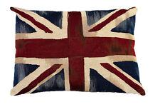 Union Jack Kissen aus Gobelin mit Füllung England UK Flagge Vintage 45 x 33 cm