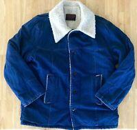 Wear Guard Men's Vintage Sherling Lined Denim Rancher Coat Chore Jacket L? XL?
