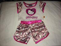 Build a Bear Hello Kitty Pink/White/Fuchsia Top and Shorts