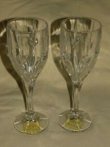 """4 Lenox Embrace Water Wine Glass Goblets 9"""" Crystal Set New w Tags"""