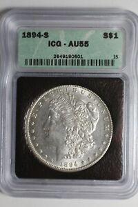 1894 S Morgan Silver Dollar ICG AU55