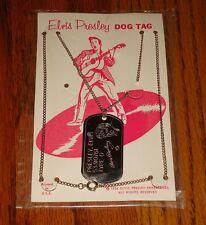 ELVIS PRESLEY ORIGINAL DOG TAG ON CARD