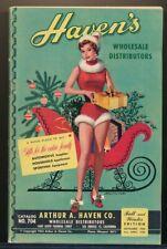 HAVEN'S Winter 1954 Catalog Sexy Santa's Helper GGA Cover TOYS Trains DOLLS vv