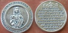 Saint St. Dymphna Holy Coin Token + Mental Health, Stress, Anxiety, Depression