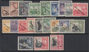 Malta, Scott 208-222, 235-240 (SG 234-248), MHR