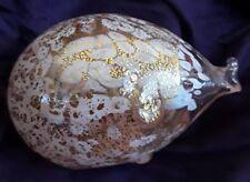MURANO Vetro Artistico Delicate Blown Glass Pig w Gold Flakes *Labeled*