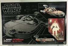 "Star Wars Black Series Luke Skywalker X-34 Landspeeder 6"" Figure Vehicle Box Set"