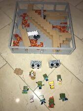 Hot Wheels Minecraft Track Blocks Lot Abandoned Mineshaft Minecart Zombies Duck