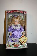 "Collectible Dandee Genuine Fine Bisque Porcelain 8 1/2"" Petite Girl Doll"