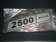 Emblem Badge Fiat 132 2500 Diesel 4394574 original Metall