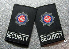 "licensed security officers badged epaulettes -""NEW COLOUR"""