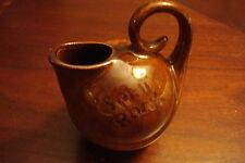 """Vintage oil Jar 'Split Rock"""" brown , 4 1/2"""" tall[5]"""