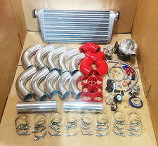 3' UNIVERSAL T3/T4 TURBO KIT TURBOCHARGER+INTERCOOLER+PIPING KIT+BOV+BOOST GAUGE