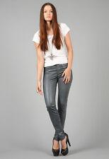 NWT J Brand Jeans Super Skinny Legging Wax COATED Fog Gray - 24
