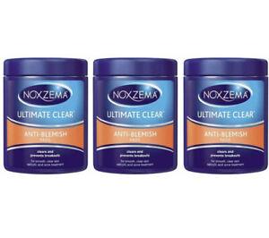 Noxzema Ultimate Clear Anti Blemish Pads Acne Treatment 90 Pads - 3 Pack