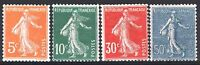 FRANCE ANNEE COMPLETE 1921 YVERT 158 / 161 , 4 TIMBRES SEMEUSE NEUFS xx TTB M552