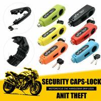 Universal Motorcycle Grip Brake Lever Handlebar Anti Theft Security Caps Lock