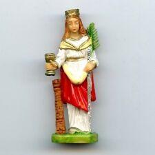 Heiligenfigur Heilige Barbara Santa Bergleute Kunstharz Höhe Figur 7 cm HF 7145