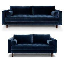 Brand New Harper Scott Blue Velvet 3+2 - RRP £1999 - Our Price £899 - Save ££££