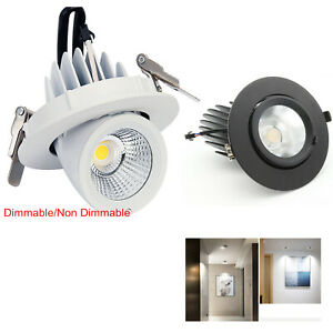 Dimmable LED Spotlight Elephant Nose Lamp Embedded Ceiling Wall COB Down light