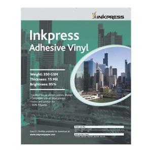 Inkpress AV851120 Specialty Media Adhesive Vinyl 13 Mil 8.5in. X 11in. 20 Sheets