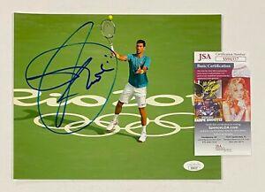 Novak Djokovic Signed 8x10 Tennis Photo Autographed JSA COA