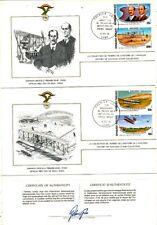 TIMBRE STAMP 3 FDC AVION HISTOIRE AVIATION FEDERATION AERONAUTIQUE TOGO
