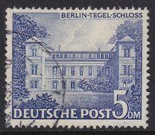 West Germany Berlin 1949 5M Blue Building FU Mi 60 Sc 9N60