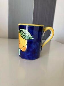 Beautiful Hand Painted Sorrento Ceramic Tea Coffee Mug Cup Gift Signed