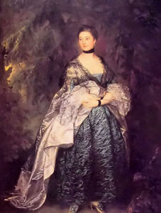 Oil painting thomas gainsborough - noble lady alston young woman female canvas