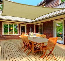 13 x 20FT Rectangle Sun Shade Sail Outdoor Garden UV Top Canopy Cover Patio Pool