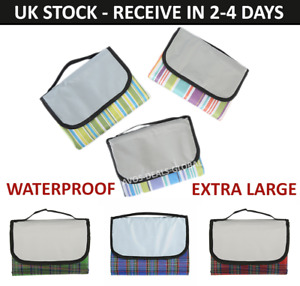 Large Picnic Blanket Beach Mat Camping Rug Family Travel Folding Waterproof UK
