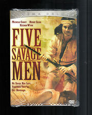 Five Savage Men (DVD, 2005, Cinema Deluxe) RARE 1970 BRAND NEW SLIM CASE