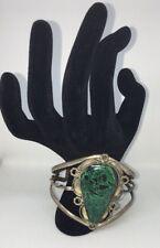 Vintage Navajo Cuff Bracelet- Malachite and Silver