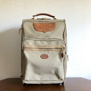Vintage King Ranch Rolling Carry On Luggage Bag