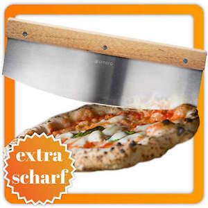 Profi Pizzaschneider Pizzamesser Pizza Cutter Messer & Kräuter Wiegemesser 35cm