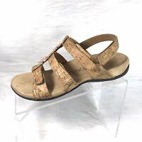 Vionic Amber Womens Sandals Strappy Beige Cork Size 8