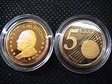 VATICANO 2004 n° 1 moneta da CENT 5 EUROCENT FONDO a SPECCHIO PROOF FS PP BE