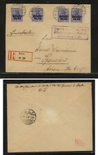 Lithuania , Kowno  registered cover , nice markings  1918      EX1105