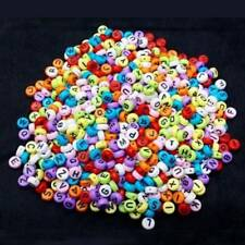 100pcs 6mm Acrylic Alphabet Letter Round Flat Spacer Beads for DIY Jewelry