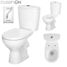 Stand-WC mit Spülkasten Toilette Komplett Sitz Spülrandlos Keramik ARTECO CLEAN