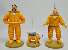 Tintin Haddock Milou Explorers man on the Moon rocket resin set