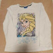 Girls White Frozen Top Elsa Size 6-7 Years Disney Gems