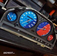 BMW E30 Custom Cluster Overlay set - M stripe edition