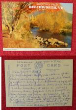 Vintage Australian Postcard. Greetings From Beechworth
