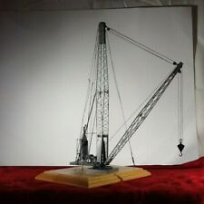 ..O Scale Painted Brass Steam Derrick For Layout or Display - Rare Near Flawless