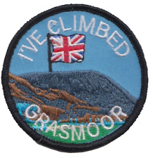 I've Climbed Grasmoor Mountain Lake District Flag Embroidered Patch Badge